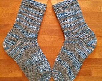 Hand Knit Wool/Nylon Blend Socks