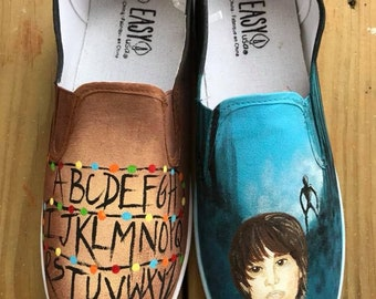 Stranger Things Hand-Painted Shoes