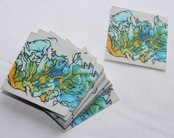 Under the Sea Abstract Vinyl Sticker