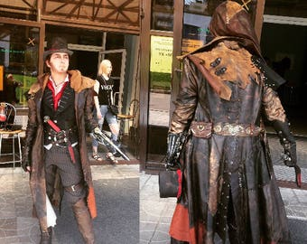 Jacob Frye natural leather cosplay costume Assassins