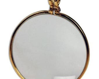 7Gypsies Optical Lens: Antique Brass - Looking Glass - 2 PC
