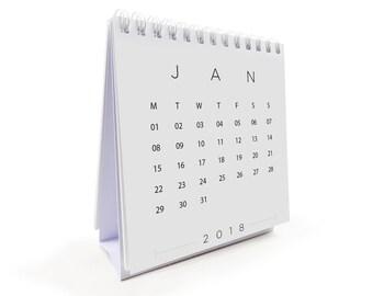 FORM 2018 Desk Calendar