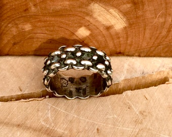 Mens  Stamp 925 Mexico Silver Ring Size 8