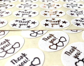Thank you! Stickers x 49 - Perfect for Postage/Packing Decoration - Penpal - Letters - Stationery