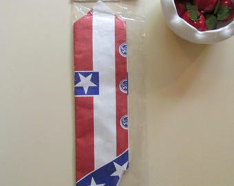 1989 Tyvek Uncle Sam Yankee Doodle Fourth of July Vest Costume by A Beistle Creation USA