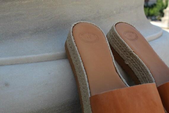 3a46445f6cf4 ... platform Leather Greek Espadrille Ancient sandals slide Natural leather  sandals Leather natural sandals sandals sandals Women ...