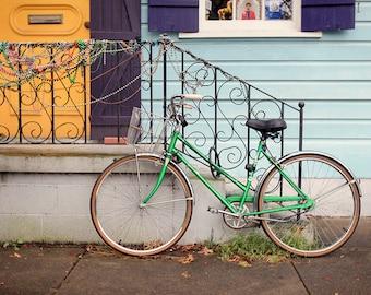 New Orleans Marigny Art, Mardi Gras Print, Bicycle Print, Affordable Wall Art, Home Decor, Fine Art Photography, 8x10, 11x14, 16x20, 20x24