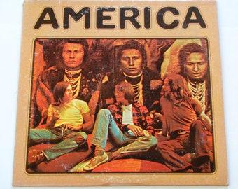 """Amerika - """"ein Pferd ohne Namen"""" - """"Sandmann"""" - """"Ich brauche dich"""" - Folk Rock - Original Warner Brüder 1972 - Vintage Vinyl-LP aufzunehmen Album"""
