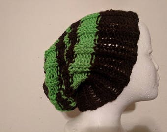 Knit slouchy beanie made to order
