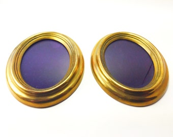 Vintage Brass Frames, Oval Brass Frames
