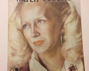 "Vintage Art Magazine ""How To Do Water Colors"" by Walter Foster Materials To Use and How To Paint With Water Colors, Walter Foster Art Book"