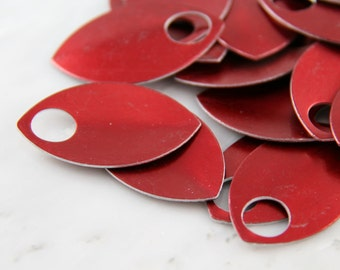 Red Anodized Aluminum Scales, 50 Large