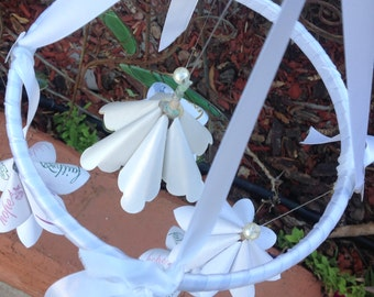 Origami Flower Wedding Mobile Faith Hope and Love Theme