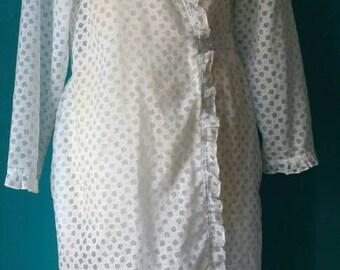 Vintage transparent wrap over peignoir