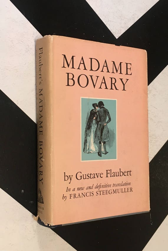 Madame Bovary by Gustave Falubert in a new and definitive translation by Francis Steegmuller pink vintage classic novel (Hardcover, 1957)