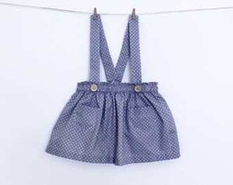 Girl Skirt with straps Pattern PDF Sewing Pattern – Instant download