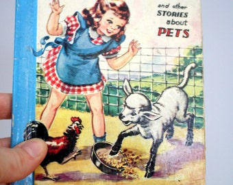 1940 Peggy's Pokey and Other Stories About Pets The Little Color Classics