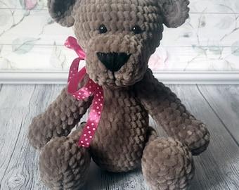 Crochet bear Crochet toy Handmade toy Amigurumi bear Plush bear Crochet Teddy Bear Gift for girl Gift for boy Stuffed animal Handmade bear