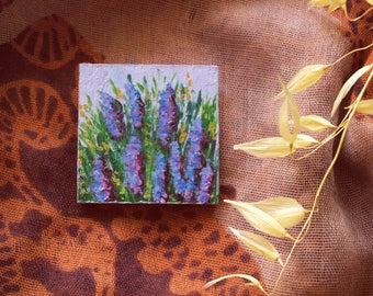 "Handpainted Brooch ""Lavander"""