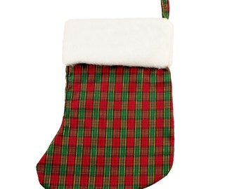 Tartan Christmas Stocking (with or without personalization)