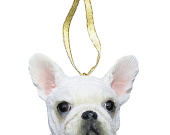 French Bulldog Ornament With Personalized Name Plate A Great Gift For Bulldog Lovers