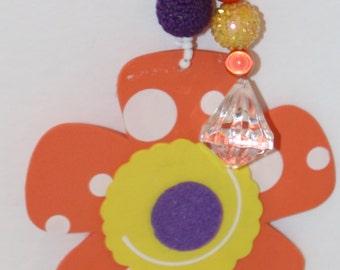 Flower Orange Tablecloth Weights Set of 4