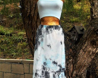 Upcycled Skirt, Fairy skirt, Hippie skirt, Boho skirt, Tie dye skirt, Beach cover, Surf wear