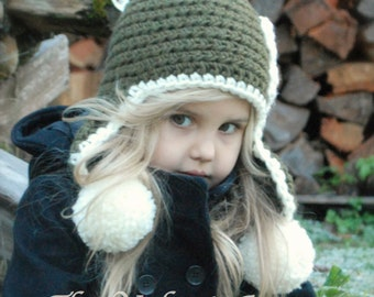 Crochet PATTERN-The Wynter Hat (Toddler, Child, and Adult sizes)