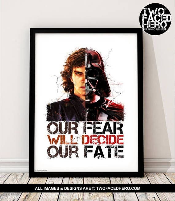 Anakin Quotes: Darth Vader Art Print Star Wars Anakin Skywalker Inspired