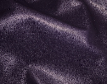 "Leather 12""x12"" DIVINE Dark Purple TOP grain soft Cowhide 2-2.5oz / .8-1 mm PeggySueAlso™ E2885-20 Full hides available"