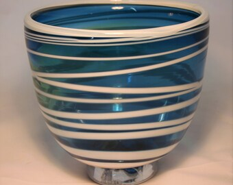 Glass blown bowls and plates