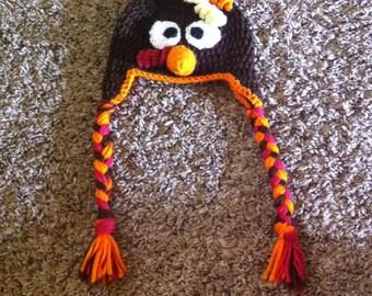 crochet turkey hat