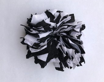 Cotton Scrunchie- B&W