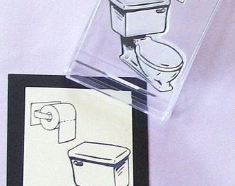May Sale Toilet Rubber Stamp with Bonus Toilet Paper Roll Inchie 126