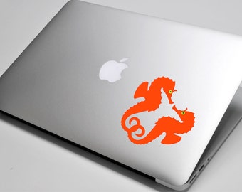 Seahorse Laptop / Macbook / Notebook Computer Decal Sticker