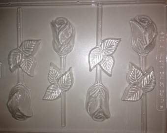 F98 - Chocolate Lollipop Mold - Roses