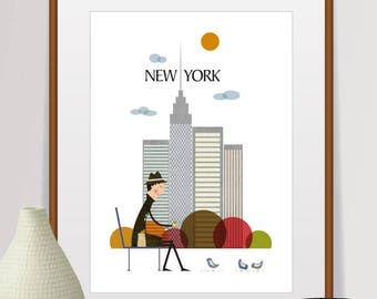 new york print, new york wall art, new york skyline, new york poster, new york, new york art, new york city, city print, new york city print