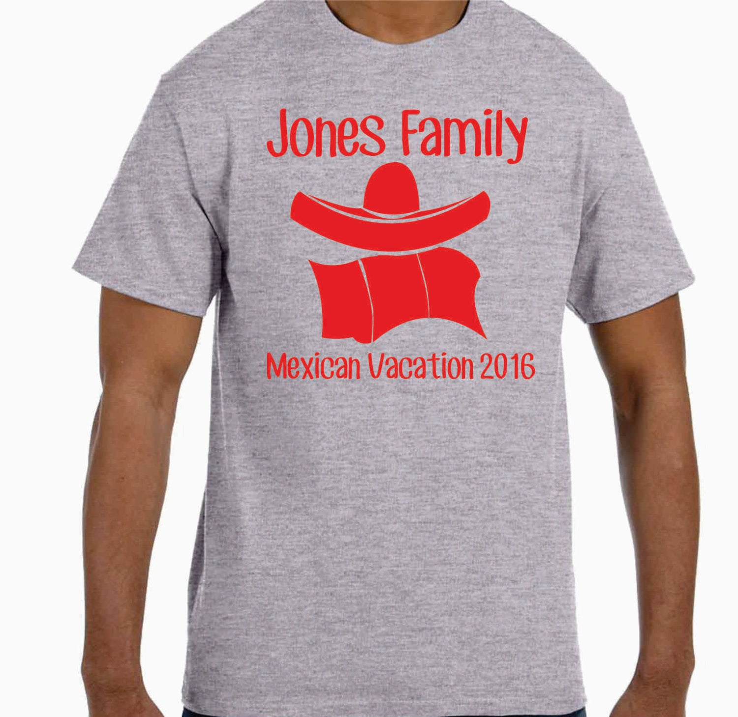Lot Of 10 Personalized Mexican Family Vacation T-shirts
