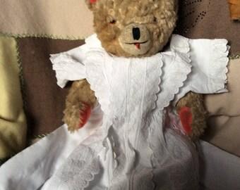 Antique little girl white fancy dress