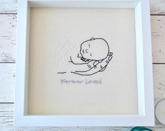 Angel Baby Miscarriage Gift, Baby Memorial Keepsake, Mommy to an Angel, Stillborn Embroidery, In Loving Memory, Baby Loss Sympathy Gift