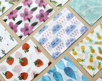 Translucent watercolour feather Envelope // Letter Envelopes // Vellum Envelope // Letter Writing Envelopes