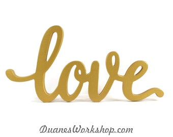 Superior Love Sign Wedding Decor Script Love Sign Elegant Love Sign Sweetheart Table  Gold Love Sign Home