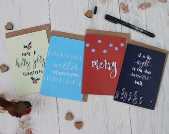 Little Robyn Christmas Card Bundle - Brush-Lettered Cards