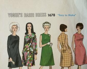 Vogue A-Line Dress Pattern 1678