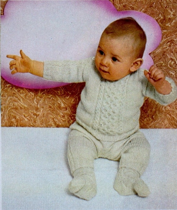 f07aed0b0 Instant Digital Download PDF Vintage Row by Row Knitting Pattern ...