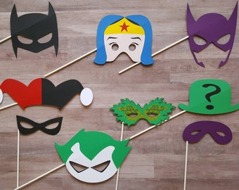 Superhero and Villian Photo Booth Props