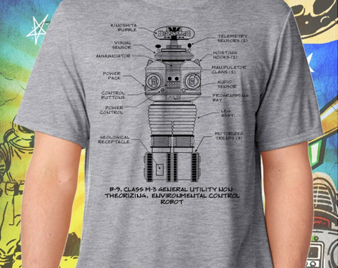 Lost in Space / Classic B-9 Robot / Gray Men's Performance T-Shirt