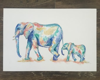 Nursery Elephant Print