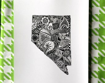 Nevada State Outline Art Print