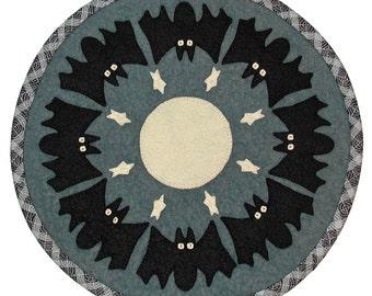PDF Pattern - Spooky Skies 16 inch WoolFelt Table Mat